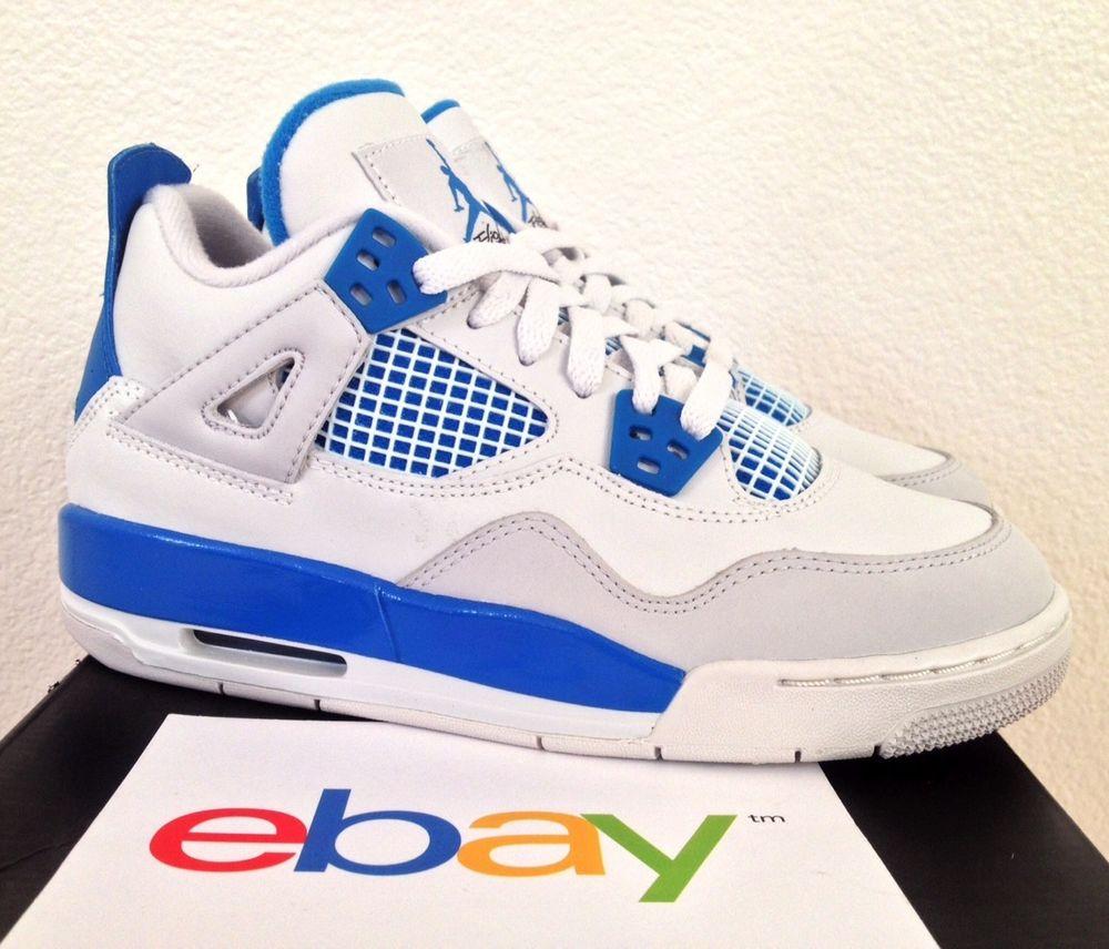 premium selection 5ed4f 0db91 DS Air Jordan 4 IV Retro Military Blue GS Sz 3 5Y or 4Y Cement Bred Toro  Nike XI | eBay
