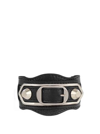 metallic classic leather black jewels
