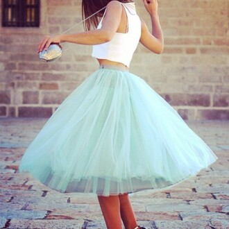 dream fantastic america skirt mint mint skirt tüllrock tull türkis falda beautiful blogger trendy trend dreamy style clothes