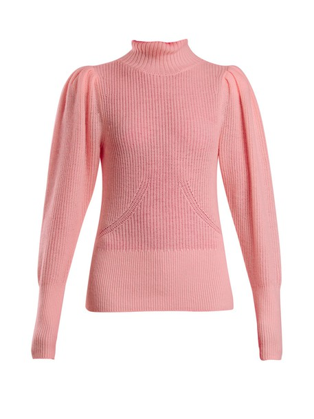 FRAME sweater knitted sweater wool pink