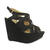 Black Platform Wedge Crossover Sandals