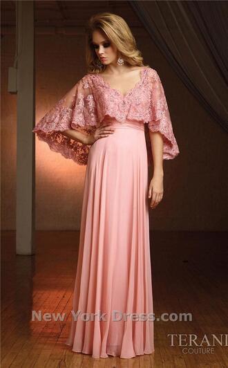 dress blush terani couture lace top