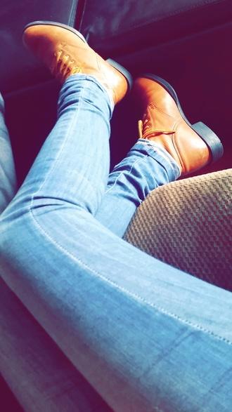 shoes vintage boots brown boots blue jeans jeans