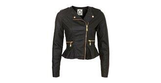 jacket leather perfecto peplum