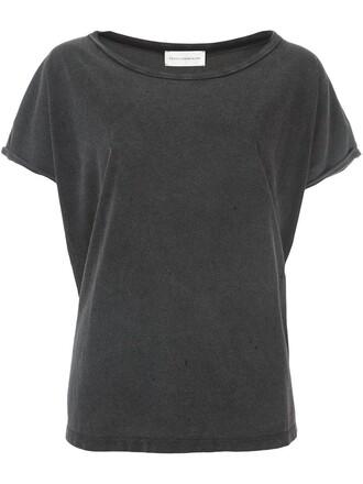 t-shirt shirt cropped t-shirt cropped grey top