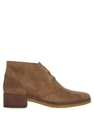 suede ankle boots boots ankle boots suede tan light shoes