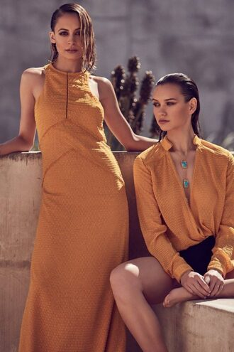 dress maxi dress nicole richie orange orange dress summer summer dress blouse top
