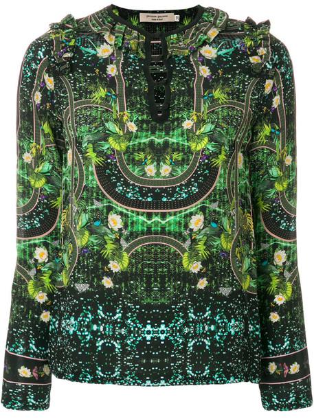 PICCIONE.PICCIONE blouse women silk green top
