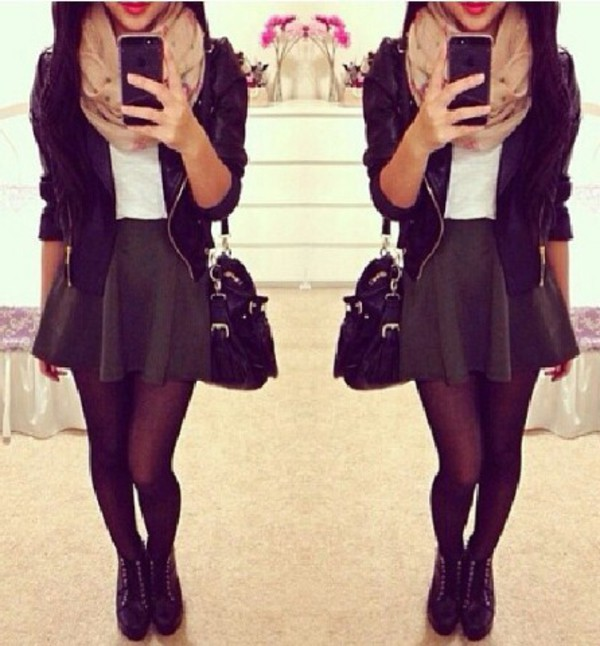 skirt fashion style classy selfie tights shoes