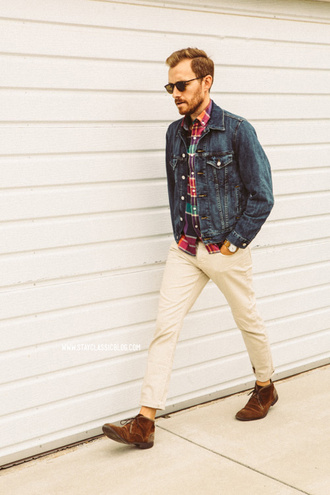 stay classic jacket jeans shoes sunglasses jewels belt menswear