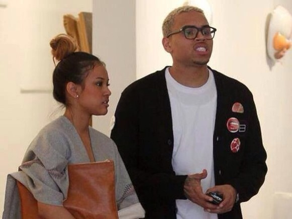 bag chris brown jacket karrueche brown