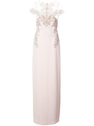 dress long dress long women lace purple pink