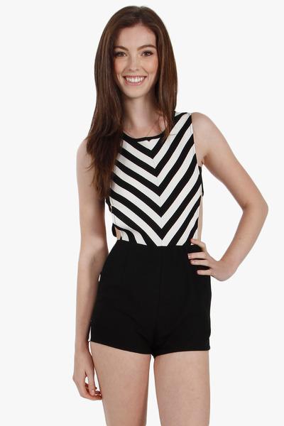 Stripe hype romper · trendyish · online store powered by storenvy