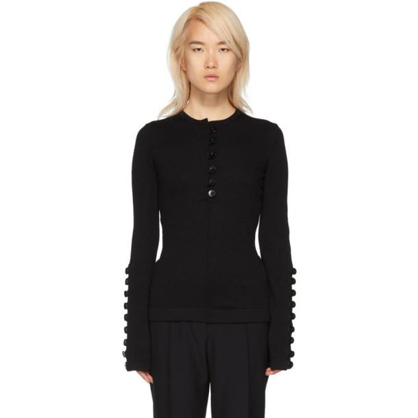 Jil Sander Black Buttons Sweater