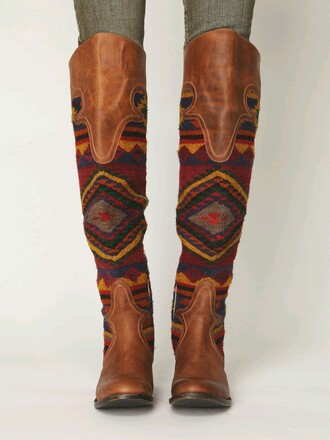 shoes brown tall boots freebird indian native help pintrest