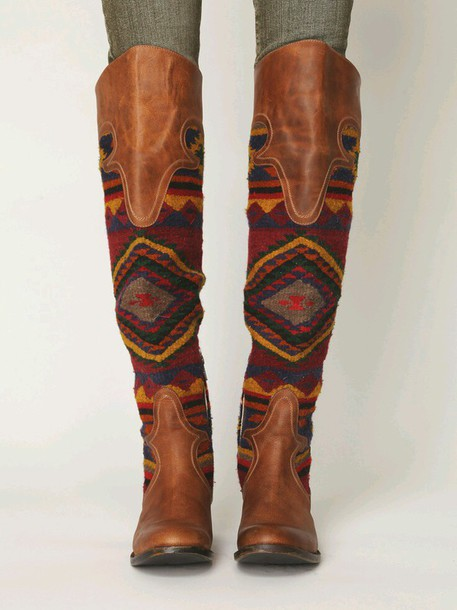 shoes brown tall boots freebird indian native pintrest