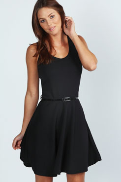 Maya Scoop Neck Skater Dress at boohoo.com