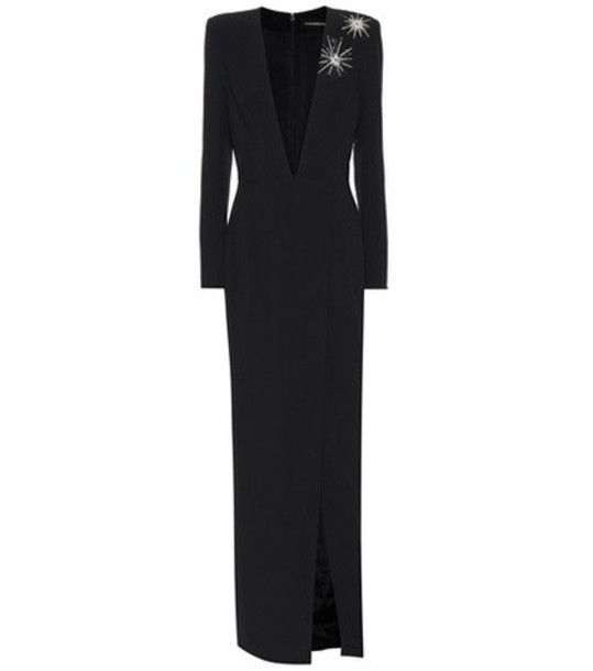 Alexandre Vauthier Embellished long-sleeved gown in black