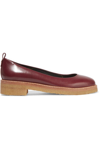 ballet flats ballet flats leather burgundy shoes