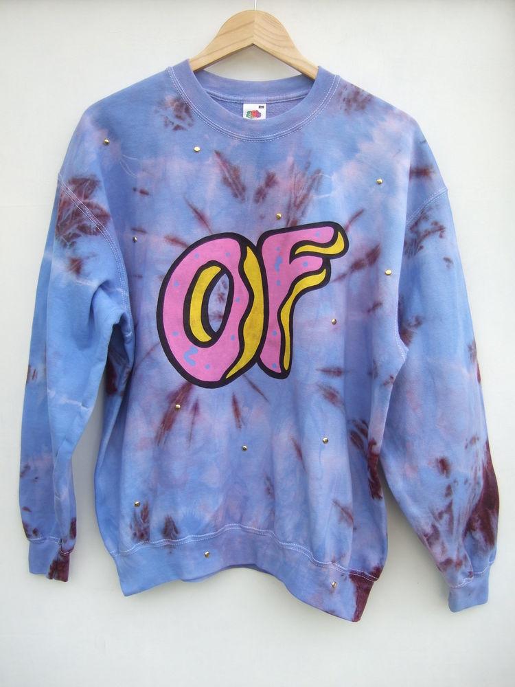 Dip Tie Dye Ombre Odd Future Donut OFWGKTA Top Sweater Jumper   eBay