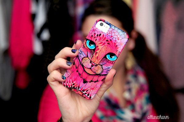 bag phone cover iphone case cats colorful