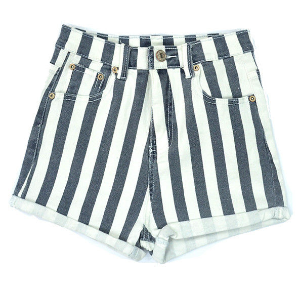 STRIPE DENIM SHORTS - Rings & Tings | Online fashion store | Shop the latest trends