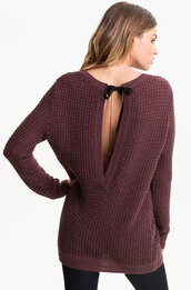 sweater,backless sweater