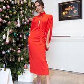 dress,victoria beckham,celebrity,instagram,fall dress,long sleeve dress