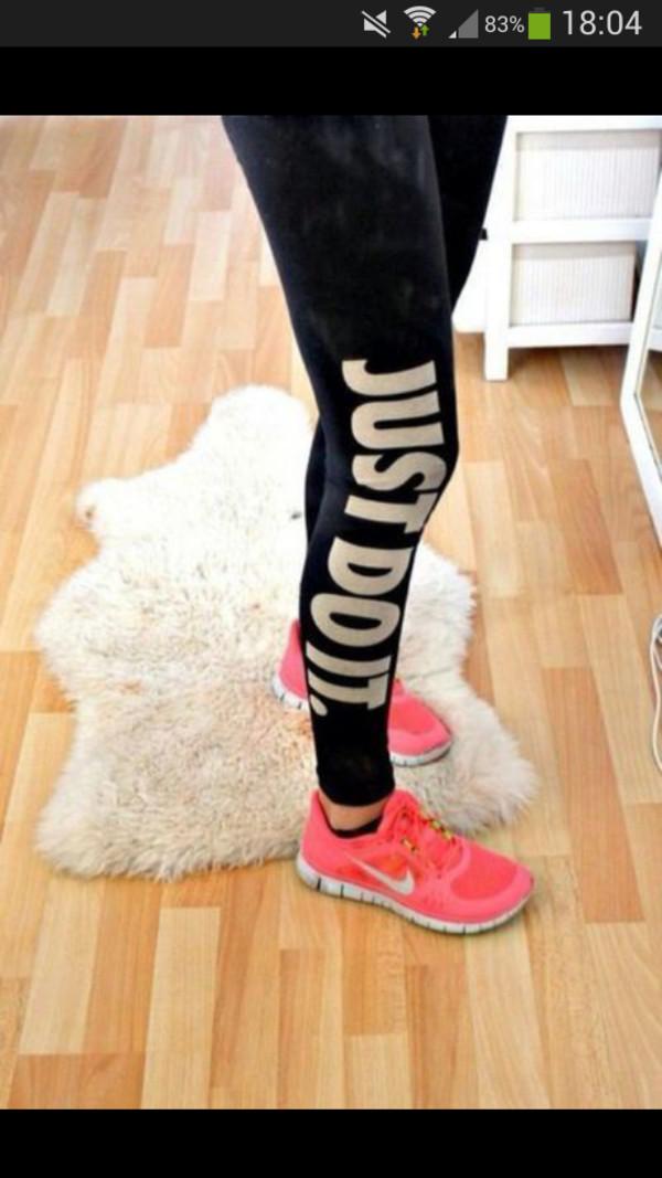 pants nike just do it workout leggings