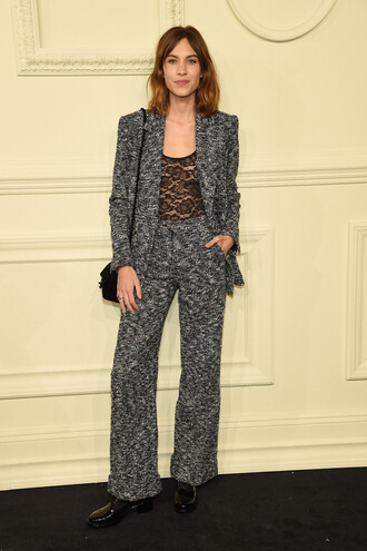 jacket pants alexa chung tweed tweed blazer