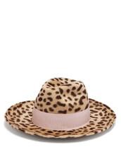hat,felt hat,print,leopard print