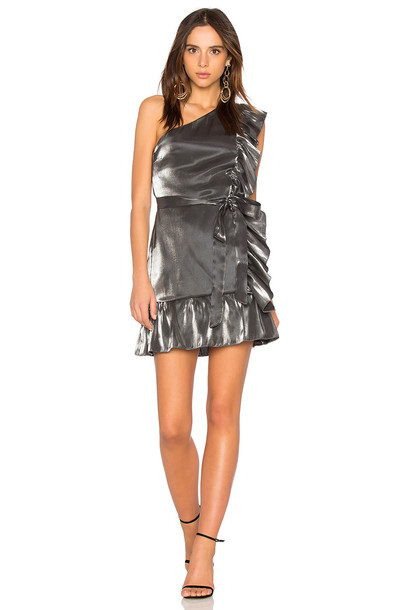karina grimaldi dress mini dress mini metallic silver