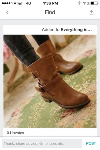 shoes brown boots low heel