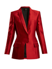 blazer,satin,red,jacket