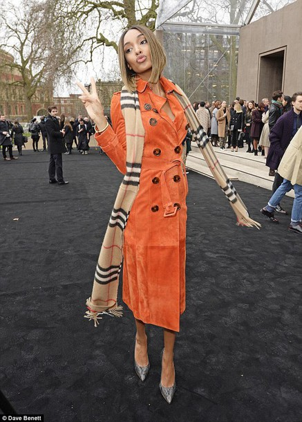 jourdan dunn orange burberry