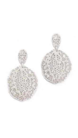 earrings lace silver jewels