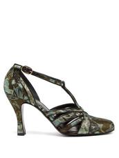 jacquard,pumps,black,green,shoes