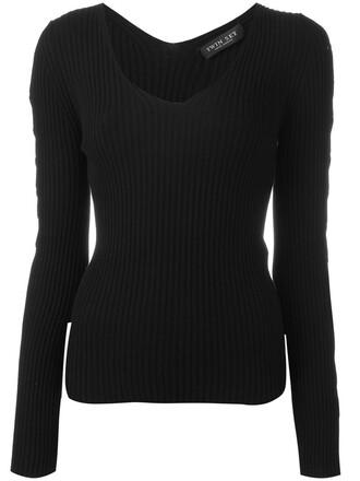 jumper women lace black sweater