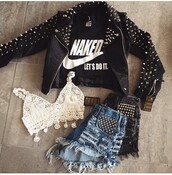 jacket,biker jacket,leather jacket,black leather jacket,winter jacket,black jacket,spring jacket,outfit,outfit idea,summer outfits,cute outfits,spring outfits,date outfit,party outfits,shirt,nike,shorts,denim shorts,High waisted shorts,summer shorts,ripped shorts,distressed denim shorts,high waisted denim shorts,top,crop tops,crochet,cute top