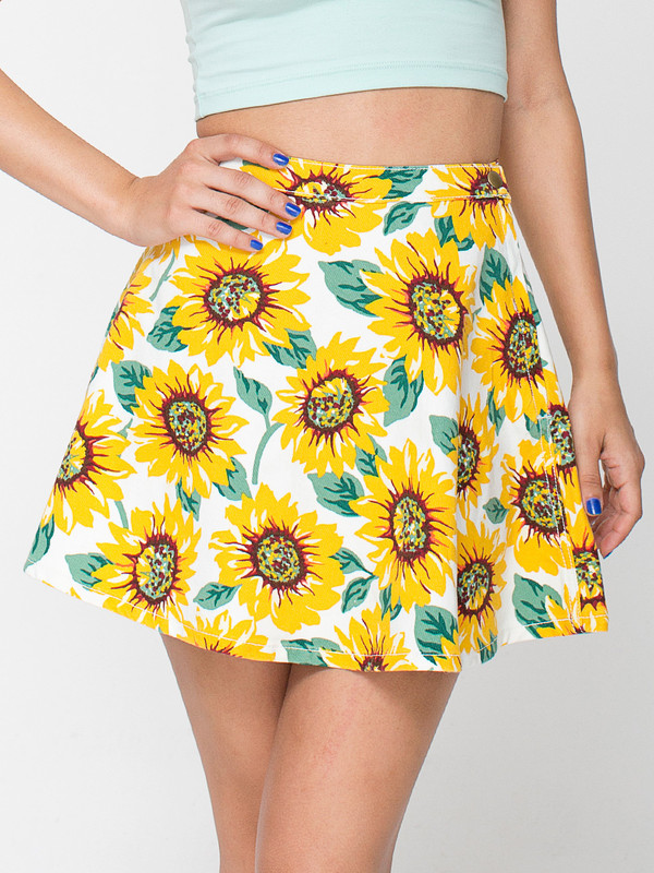 skirt sunflower sunflower print