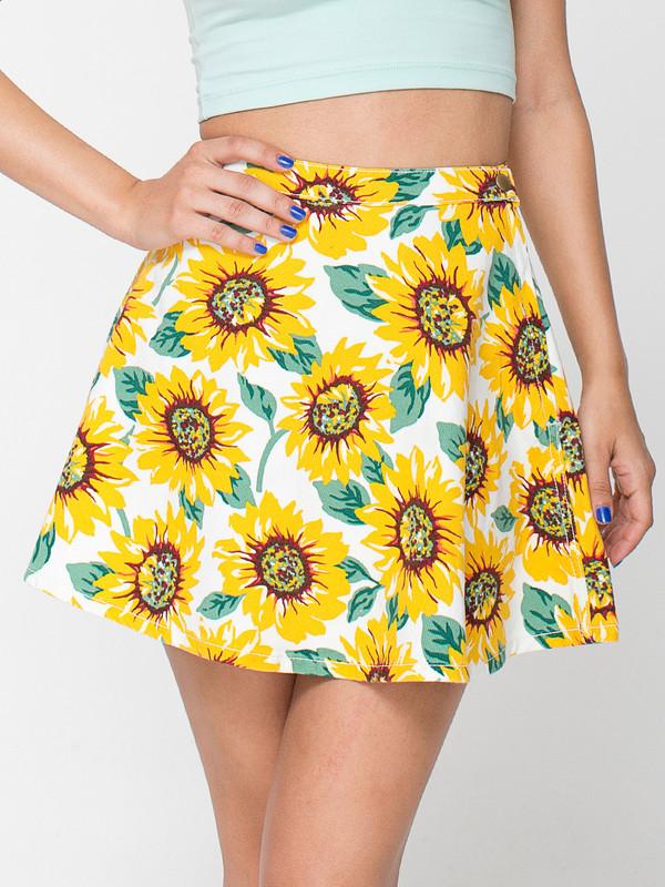 skirt sunflower sunflower print