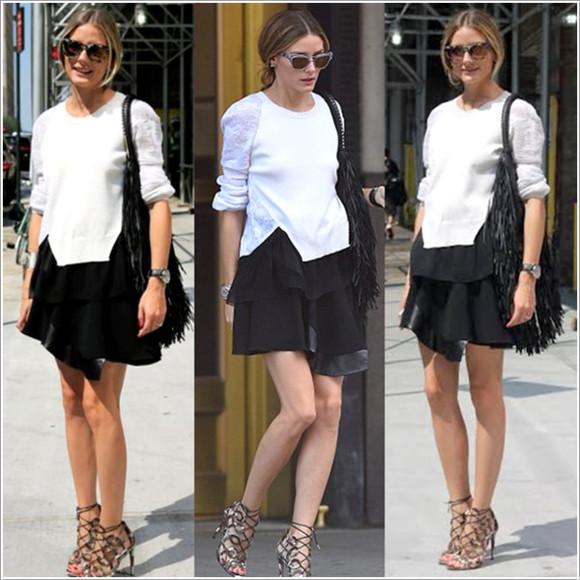 skirt olivia palermo fashion week 2014 streetstyle