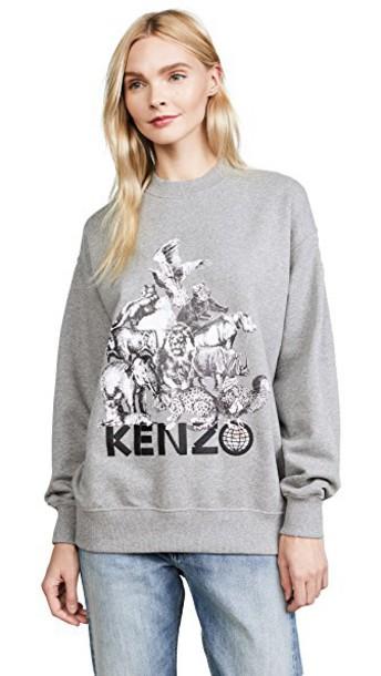 Kenzo sweatshirt grey sweater