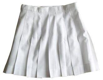 skirt white white skirt pleated pleats mini skirt