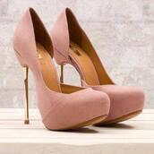shoes,high heels,pink,metal heel,platform shoes,wooden,golden heel,vintage