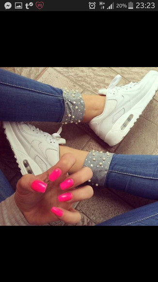 pearls jeans shoes blue jeans light skinny tight nike shoes for women