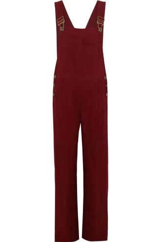 overalls burgundy jumpsuit