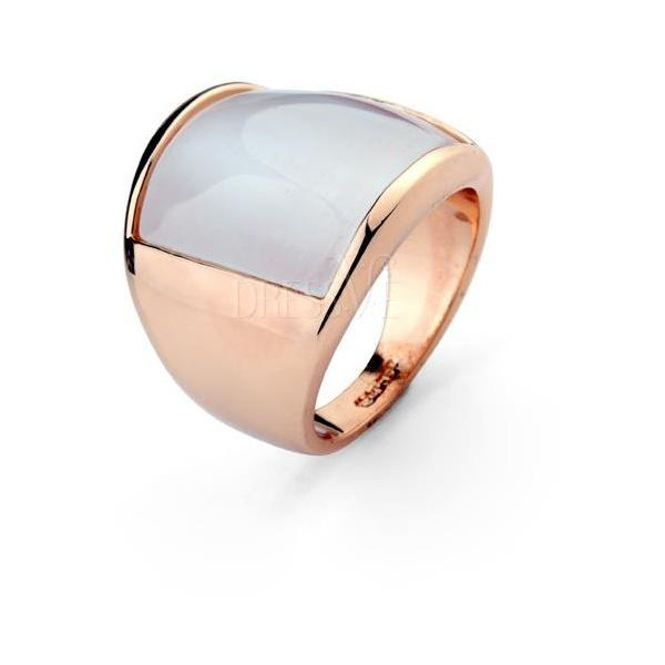 Glamour Rose Golden High Quality Opal Ladys Ring