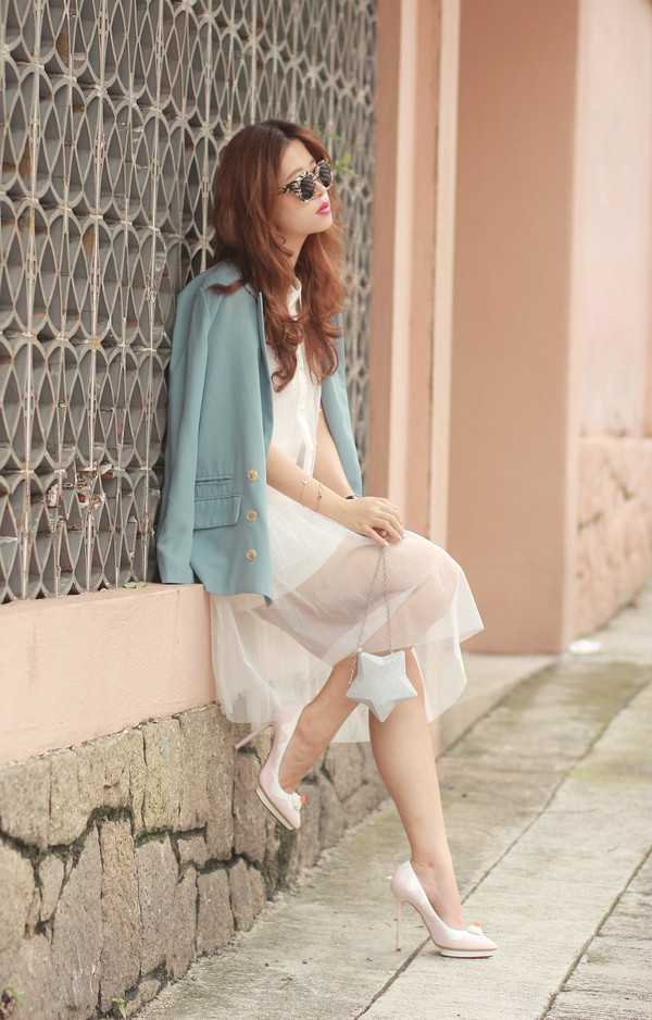 mellow mayo sunglasses jacket bag shoes jewels socks top