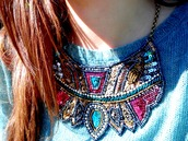 jewels,necklace,sequins,multicolor,bright,gold sequins,shiny